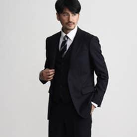 タケオ キクチ TAKEO KIKUCHI シャドーランダムヘリンボンシングルジャケット (ネイビー)