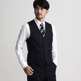 タケオ キクチ TAKEO KIKUCHI シャドーランダムヘリンボンシングルベスト (ネイビー)