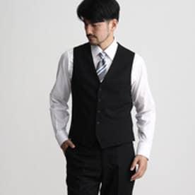 タケオ キクチ TAKEO KIKUCHI シャドーランダムヘリンボンシングルベスト (ブラック)