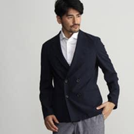 タケオ キクチ TAKEO KIKUCHI 【多機能】CS_シアサッカーピークドラペルジャケット (ネイビー)