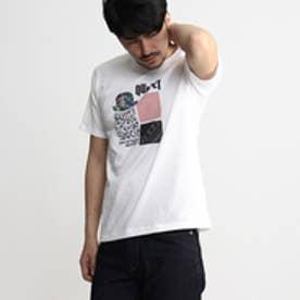 タケオ キクチ TAKEO KIKUCHI ボーラー切り替えプリントTシャツ (ホワイト)