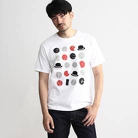 タケオ キクチ TAKEO KIKUCHI ボーラーJAZZプリントTシャツ (ホワイト)