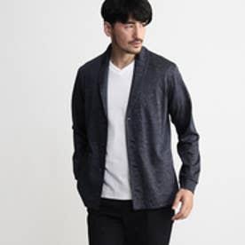 タケオ キクチ TAKEO KIKUCHI [TALL&LARGEサイズ]ショールカラーカノコ編みカーディガン (ブルー系)