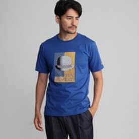 タケオ キクチ TAKEO KIKUCHI アールデコボーラープリントTシャツ (ブルー)