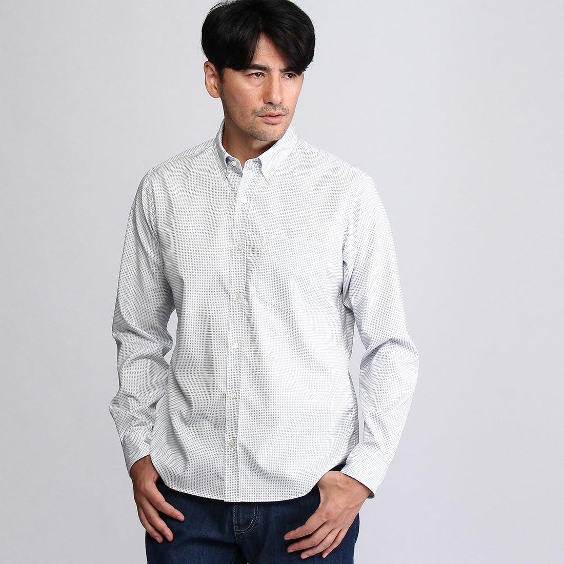 【SALE 30%OFF】タケオ キクチ TAKEO KIKUCHI 【ON/OFF】刺し子ドットシャツ (ライトブルー)