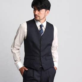 タケオ キクチ TAKEO KIKUCHI ヘリンボンシングルベスト【Product Notes Japan】 (ネイビー)