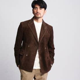 タケオ キクチ TAKEO KIKUCHI スエードダブルブレストジャケット (ブラウン)