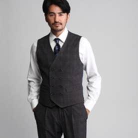 タケオ キクチ TAKEO KIKUCHI CS_2WAYグレンチェックベスト (ダークグレー)