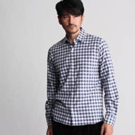 タケオ キクチ TAKEO KIKUCHI トップツイルチェックシャツ (ブルー)
