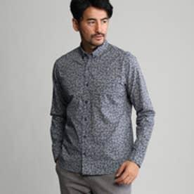 タケオ キクチ TAKEO KIKUCHI フラワープリントシャツ (ブルー)