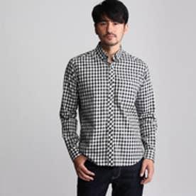 タケオ キクチ TAKEO KIKUCHI ギンガムチェックシャツ (ブラック×ホワイト)