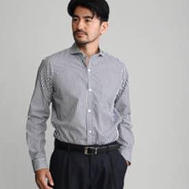 タケオ キクチ TAKEO KIKUCHI ロンドンストライプシャツ (ネイビー×ホワイト)