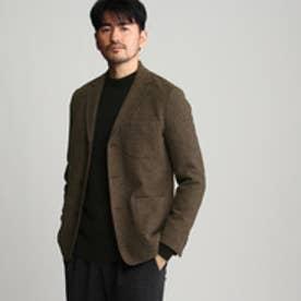 タケオ キクチ TAKEO KIKUCHI ツイードジャージジャケット (ブラウン)