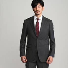 タケオ キクチ TAKEO KIKUCHI 【撥水】ダブルツイストストライプシングルジャケット (チャコールグレー)