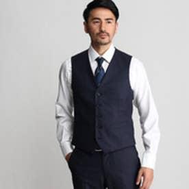 タケオ キクチ TAKEO KIKUCHI 【撥水】シャイニーストライプシングルベスト (ネイビー)