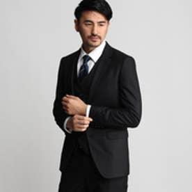 タケオ キクチ TAKEO KIKUCHI 【撥水】シャイニーストライプシングルジャケット (ブラック)
