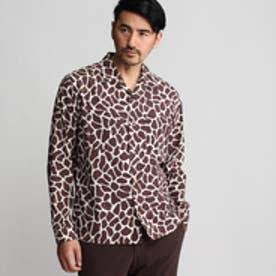 タケオ キクチ TAKEO KIKUCHI ボーラージラフオープンカラーシャツ (ブラウン)