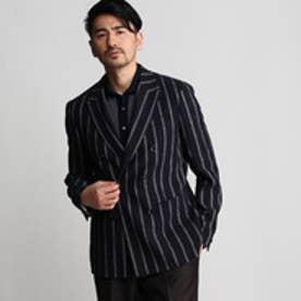 タケオ キクチ TAKEO KIKUCHI 砂子紋ストライプジャケット Product Notes Japan (ブルー系)
