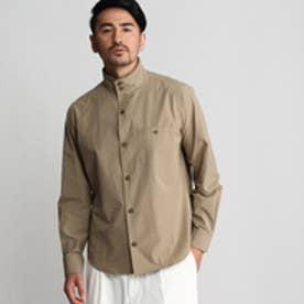 タケオ キクチ TAKEO KIKUCHI 近江サラシタイプライタースタンドカラーシャツ (ライトベージュ)