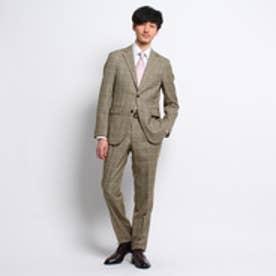 タケオ キクチ TAKEO KIKUCHI シャークチェックシングルスーツ[メンズ スーツ チェック] (ベージュ)