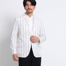 タケオ キクチ TAKEO KIKUCHI マルチストライプジャケット[ メンズ ジャケット ] (ホワイト)