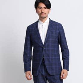 タケオ キクチ TAKEO KIKUCHI 【洗える】カラーウィンドペンジャージジャケット[メンズ チェック ジャケット] (ネイビー)