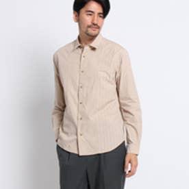 タケオ キクチ TAKEO KIKUCHI カスリストライプブロッキングシャツ[メンズ シャツ] (ベージュ)