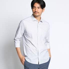 タケオ キクチ TAKEO KIKUCHI ステッチボーダー7分袖シャツ [ メンズ シャツ 7分袖 ] (ホワイト)
