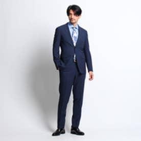 タケオ キクチ TAKEO KIKUCHI マイクロチェックピアチェンツアスーツ[メンズ スーツ チェック] (ネイビー)