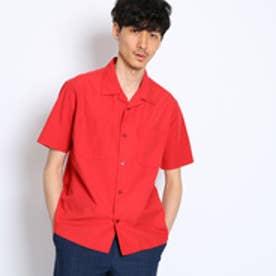 タケオ キクチ TAKEO KIKUCHI シルク混オープンカラーシャツ [ メンズ シャツ ] (レッド)