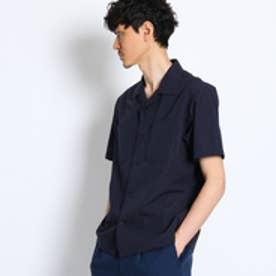 タケオ キクチ TAKEO KIKUCHI シルク混オープンカラーシャツ [ メンズ シャツ ] (ネイビー)