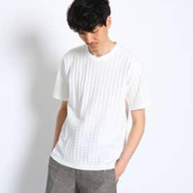 タケオ キクチ TAKEO KIKUCHI 千鳥柄リンクスジャガードTシャツ [ メンズ Tシャツ ] (ホワイト)
