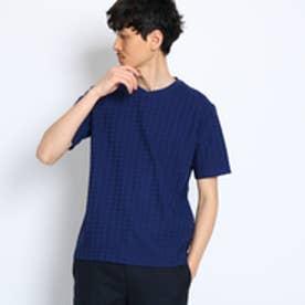 タケオ キクチ TAKEO KIKUCHI 千鳥柄リンクスジャガードTシャツ [ メンズ Tシャツ ] (ブルー)