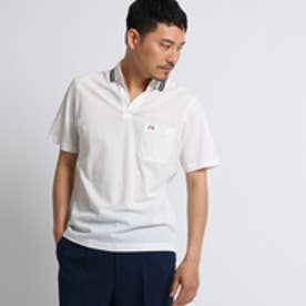 タケオ キクチ TAKEO KIKUCHI マリンラインスキッパーポロシャツ [ メンズ ポロシャツ ] (ホワイト)