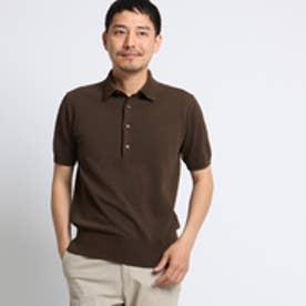 タケオ キクチ TAKEO KIKUCHI 【 PNJ 】 カゴメニットポロシャツ [ メンズ ポロシャツ ] (ブラウン)