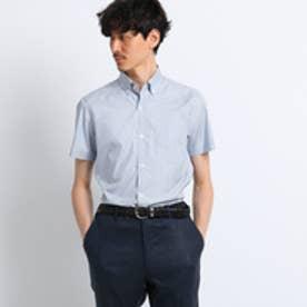 タケオ キクチ TAKEO KIKUCHI オックスストライプ半袖シャツ[ クールビズ クールマックス ] (ブルー)