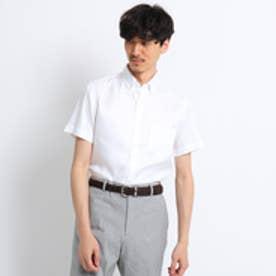 タケオ キクチ TAKEO KIKUCHI ヘリンボン半袖シャツ [ クールビズ クールマックス ] (ホワイト)