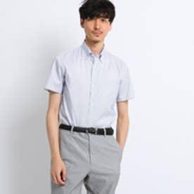 タケオ キクチ TAKEO KIKUCHI オックスストライプ半袖シャツ[ クールビズ クールマックス ] (ホワイト)