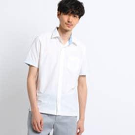 タケオ キクチ TAKEO KIKUCHI ミニヘリンボン前開きポロシャツ[ メンズ ポロシャツ ] (オフホワイト)