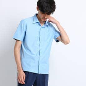 タケオ キクチ TAKEO KIKUCHI ミニヘリンボン前開きポロシャツ[ メンズ ポロシャツ ] (サックス)