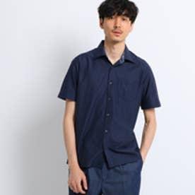 タケオ キクチ TAKEO KIKUCHI ミニヘリンボン前開きポロシャツ[ メンズ ポロシャツ ] (ネイビー)
