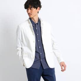 タケオ キクチ TAKEO KIKUCHI リネンシャンブレーブルゾンジャケット[ メンズ ジャケット ] (ホワイト)