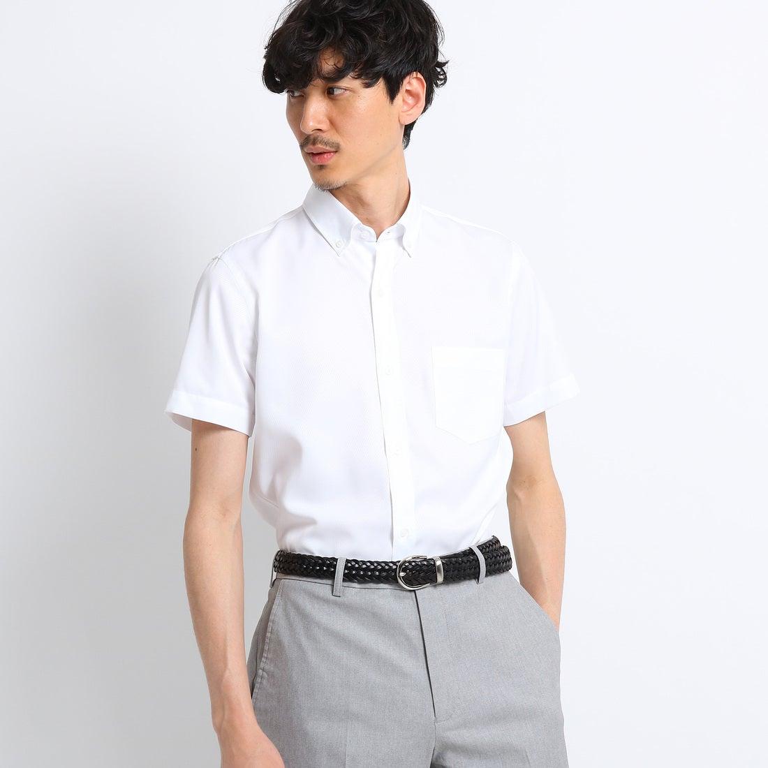 タケオ キクチ TAKEO KIKUCHI 【 洗える 】 ドビーカルゼスーパードライシャツ [ メンズ シャツ クールビズ ] (ホワイト)