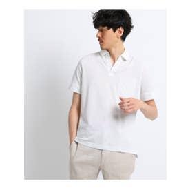 タケオ キクチ TAKEO KIKUCHI ドットカノコスキッパーポロシャツ (ホワイト)