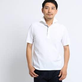 タケオ キクチ TAKEO KIKUCHI カラーメランジポロシャツ [ メンズ ポロシャツ 吸汗速乾 ギフト ] (ホワイト)