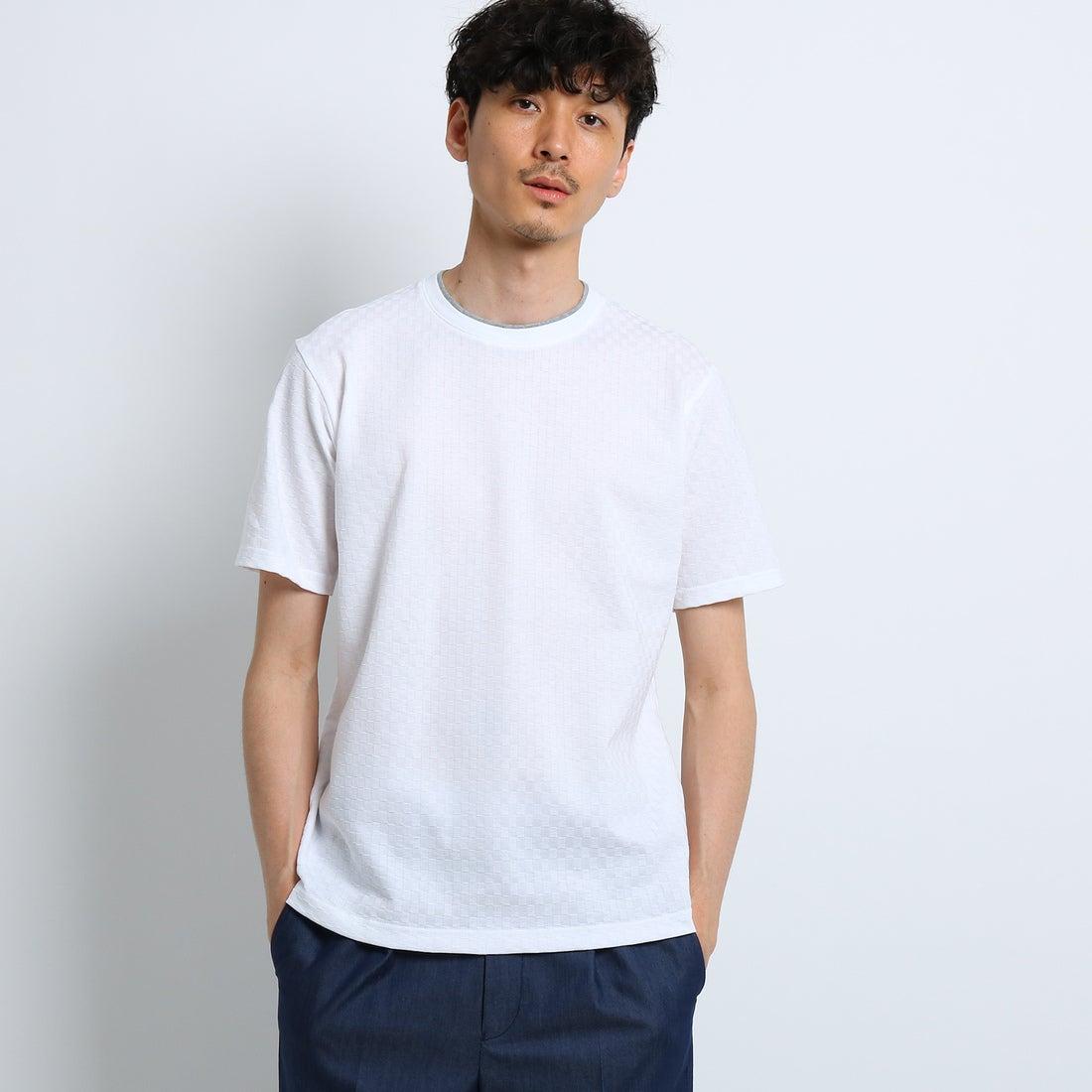 【SALE 50%OFF】タケオ キクチ TAKEO KIKUCHI 市松リンクスプルオーバー[ メンズ カットソー ] (ホワイト)