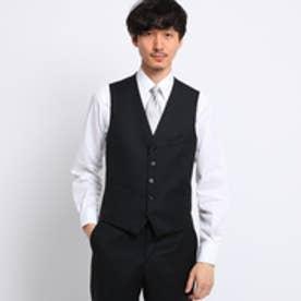 タケオ キクチ TAKEO KIKUCHI サージシングルベスト[ メンズ 結婚式 ] (ブラック)