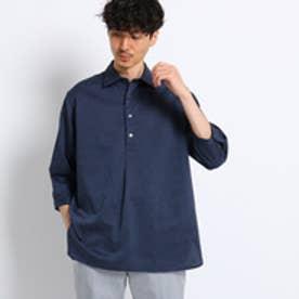 タケオ キクチ TAKEO KIKUCHI リネン混プルオーバー7分袖シャツ[ メンズ シャツ ] (ネイビー)