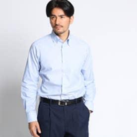 タケオ キクチ TAKEO KIKUCHI 【洗える】メッシュストライプドレスシャツ[シャツ 速乾 ] (ライトブルー)