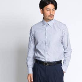 タケオ キクチ TAKEO KIKUCHI 【洗える】メッシュストライプドレスシャツ[シャツ 速乾 ] (ブルー)
